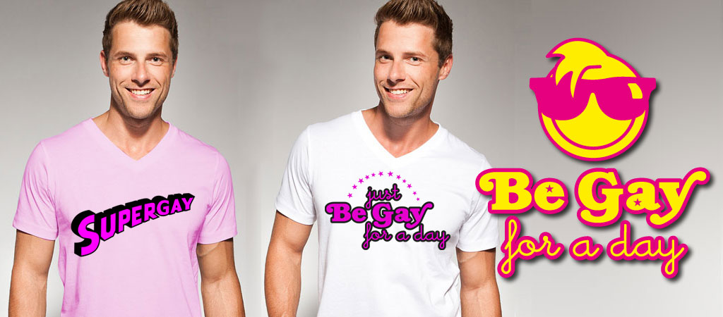 ontwerp je eigen gay for a day t-shirt